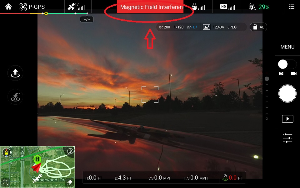 Alerta de campo magnético no DJI GO pode causar problemas nos drones