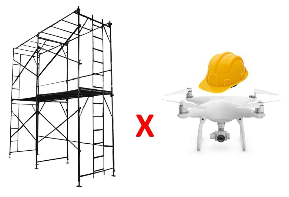 Vantagens de inspeção com drones