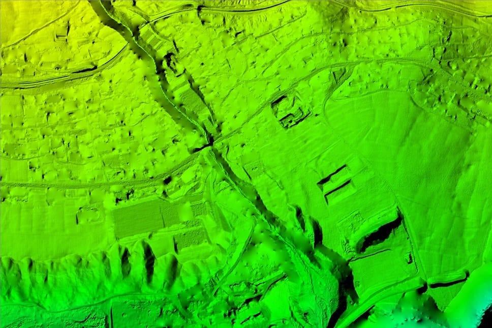 MDT gerado a partir de mapeamento aéreo com drone